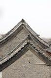 arkitektur details det gammala taket Arkivbild