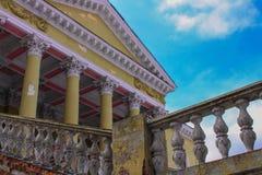 arkitektur en forntida slott, förgången ålder arkivbild