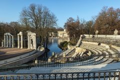 Arkitektur för barock för Warszawa` s Arkivbild