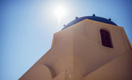 Arkitektur för Grekland Santorini ö, Oia byvit Arkivfoto