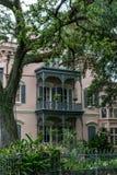 Arkitektur för New Orleans trädgårdområde royaltyfri bild