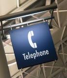 Arkitektur för offentlig byggnad för markör för tecken för telefontelefonbås Arkivbild