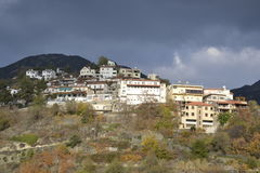 Arkitektur från den Agros byn Royaltyfri Bild