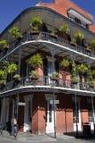 Arkitektur: Fransk fjärdedel - New Orleans royaltyfria bilder