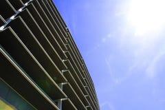 Arkitektur futuristiskt som är modern, exponeringsglas Arkivfoto