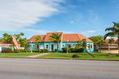 Arkitektur i Bridgetown, Barbados som är karibiska arkivfoto