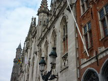 Arkitektur i Bruge, Belgien Royaltyfria Foton