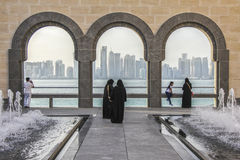 Arkitektur i Doha, Qatar Arkivfoton