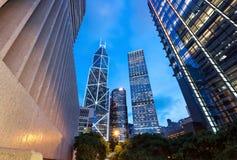 Arkitektur i Hong Kong Arkivbild