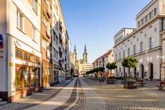 Arkitektur i Legnica poland arkivfoton