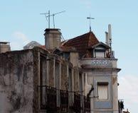 Arkitektur i Lissabon Portugal dekorativa tegelplattor royaltyfri bild