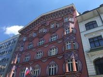 Arkitektur i Ljubljana Royaltyfri Foto