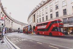 Arkitektur i London ` s Regent Street Arkivbild