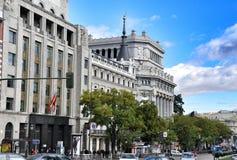 Arkitektur i Madrid, Spanien Royaltyfri Fotografi
