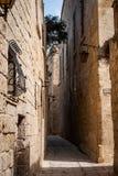 Arkitektur i Mdina, Malta Fotografering för Bildbyråer