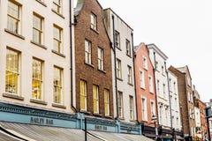 Arkitektur i mitt för stad för Dublin ` s nära Grafton Street Fotografering för Bildbyråer