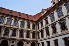 Arkitektur i Prague, Tjeckien, Europa Royaltyfria Bilder