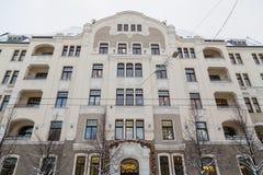 Arkitektur i Riga längs den Elizabetes ielaen royaltyfri foto