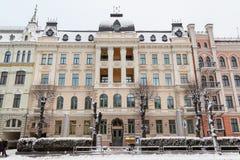 Arkitektur i Riga längs den Elizabetes ielaen arkivbilder