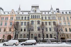 Arkitektur i Riga längs den Elizabetes ielaen royaltyfria bilder