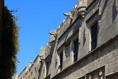 Arkitektur i slottar i den Rhodes staden, Grekland Royaltyfria Foton