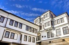 Arkitektur i stad av Ohrid, Makedonien Royaltyfri Foto