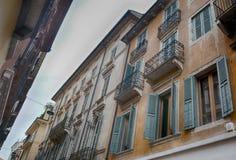 Arkitektur i staden av Verona, Italien Arkivbilder