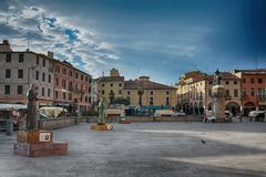 Arkitektur i staden Padua, Italien Royaltyfria Foton