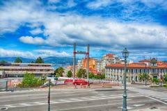 Arkitektur i Vigo, Spanien Fotografering för Bildbyråer
