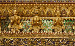 Arkitektur i Wat Phra Kaeo Bangkok Thailand Royaltyfri Fotografi