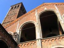 arkitektur italy milan Royaltyfri Fotografi