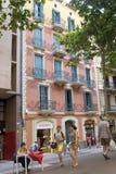 Arkitektur längs Ramblaen av Barcelona Royaltyfri Bild
