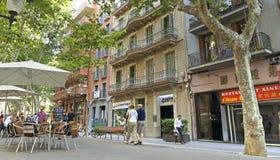 Arkitektur längs Ramblaen av Barcelona Royaltyfria Bilder
