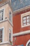 Arkitektur med målning för optisk illusion på väggen Royaltyfri Foto