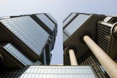 arkitektur moderna Hong Kong Arkivbilder