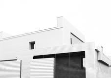 Arkitektur modernt hus, avskildhet Arkivbilder