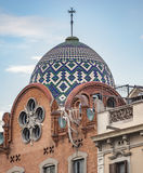 Arkitektur nära Båge de Triomf i Barcelona Arkivbild