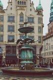 Arkitektur och byggnader i den berömda shoppinggatan av Stro Arkivfoto