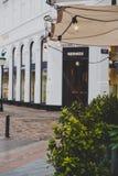 Arkitektur och byggnader i den berömda shoppinggatan av Stro Fotografering för Bildbyråer