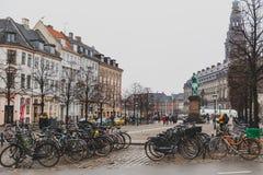 Arkitektur och byggnader i den berömda shoppinggatan av Stro Royaltyfria Bilder