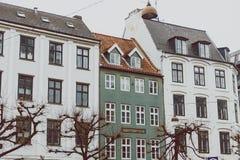 Arkitektur och byggnader i den berömda shoppinggatan av Stro Arkivbilder