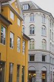 Arkitektur och byggnader i den berömda shoppinggatan av Stro Royaltyfri Fotografi