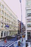Arkitektur och härliga byggnader längs Broadway i Manhattan Royaltyfria Bilder