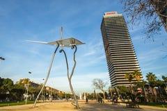 Arkitektur och konst-objekt på den olympiska hamnen Fotografering för Bildbyråer