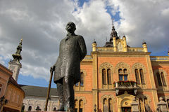 Arkitektur och monument i Novi Sad Arkivfoto
