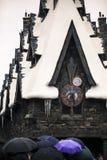 Arkitektur osaka Japan för kyrka för byggnad för slott för gammal skola för Harry Potter trollkarl medeltida royaltyfri bild