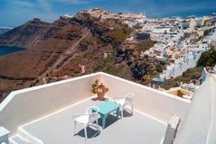 Arkitektur på den Santorini ön Arkivbild