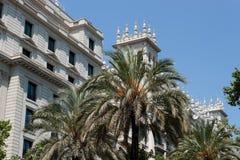 Arkitektur på gatorna i Barcelona Fotografering för Bildbyråer
