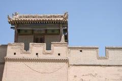 Arkitektur på Jia Yu Guan den forntida kinesiska forten Arkivfoton