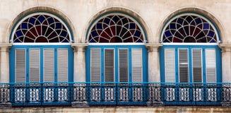 Arkitektur på La Havana Cuba Arkivfoton